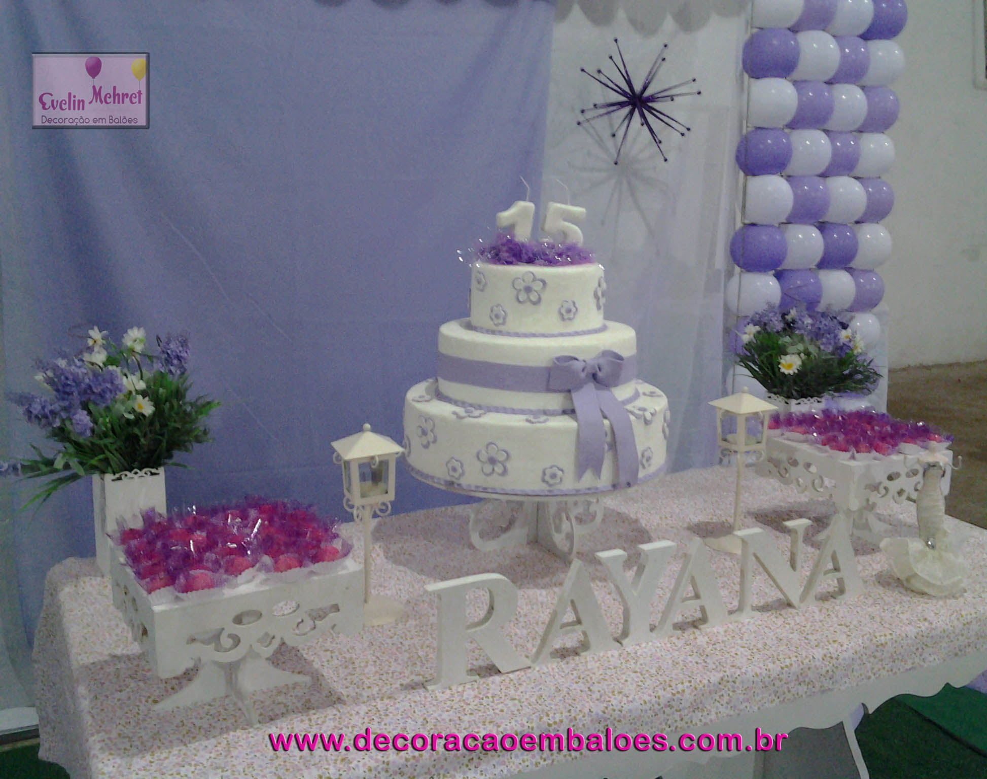 Decoracao Com Baloes Lilas E Branco Car Interior Design