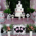 festa infantil Minnie Rosa clean